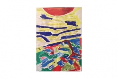 """n. 14 """"Il mondo visto da su"""" - tecnica mista, 50x70 - 2016"""
