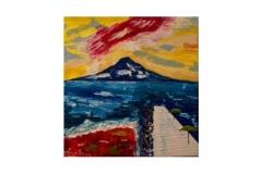 """n. 3 """"Panorama… fantastico"""" - olio su tela, tecnica spatola, 60x60 – 2017"""