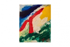"n. 6 ""I porta fortuna"" - olio su tela, tecnica spatola, 70x50 - 2012"