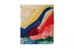 "n. 7 ""Uccellaccio o uccellino?"" - olio su tela, tecnica spatola, 50x70 - 2017"