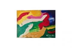 """n. 8 """"La danza dei pesci"""" - olio su tela, tecnica spatola, 70x50 - 2011"""